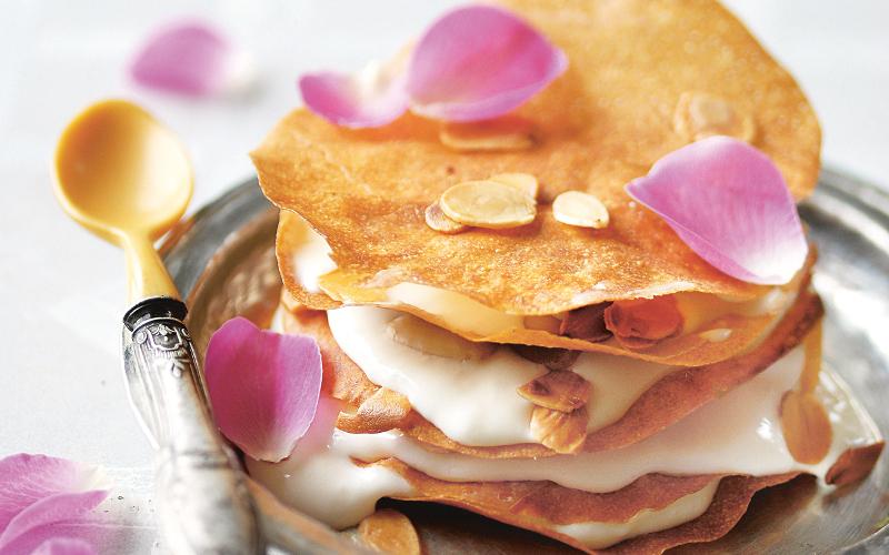 Pastilla à la crème mousline et fleur d'oranger