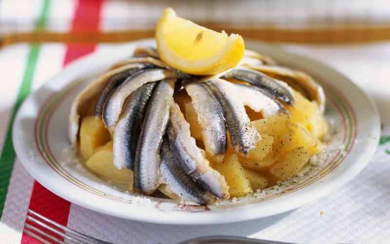 Croustillant de pommes de terre aux anchois