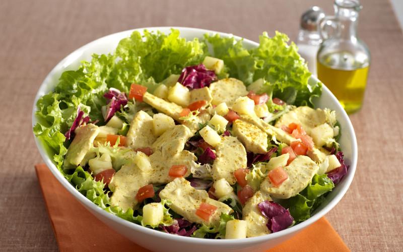 Salade aux blancs de poulet et la laitue recette de - Salade a couper qui repousse ...