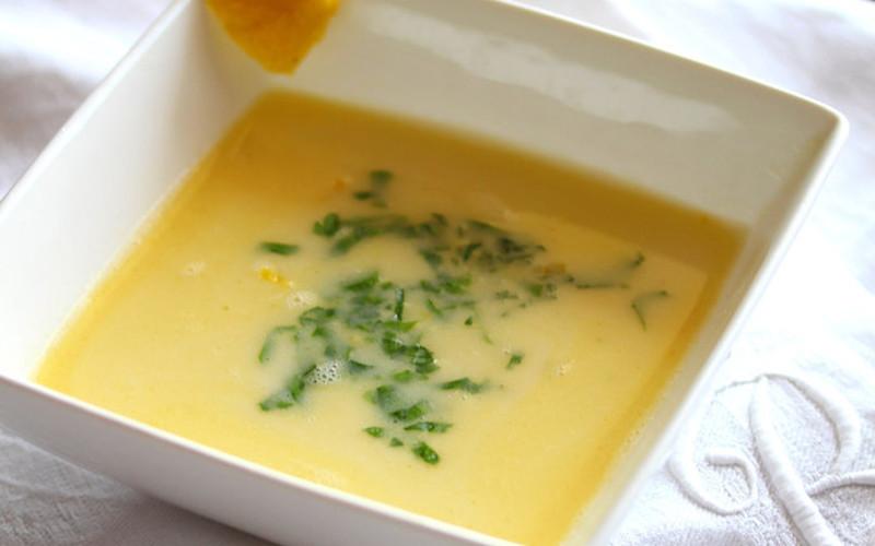 Soupe glacée au citron