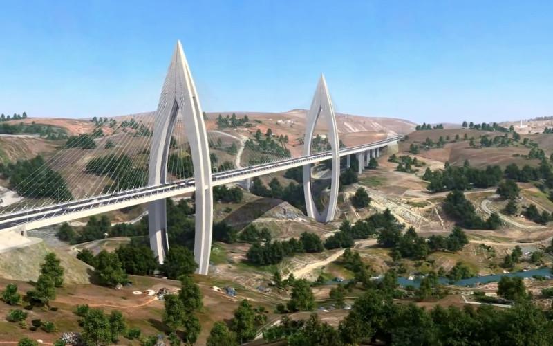Vid o pont haubans de l 39 autoroute de rabat - Premier pont a haubans ...