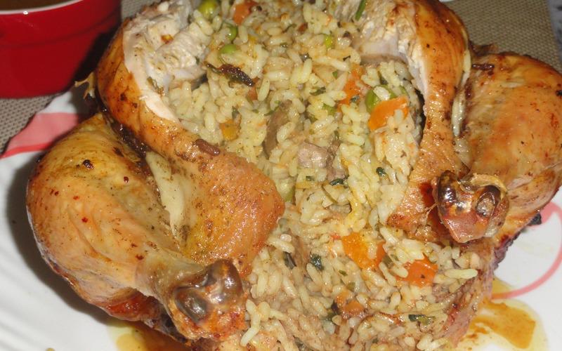 Poulet farci au riz et cuit la vapeur recette de - Comment cuisiner les blancs de poulet ...