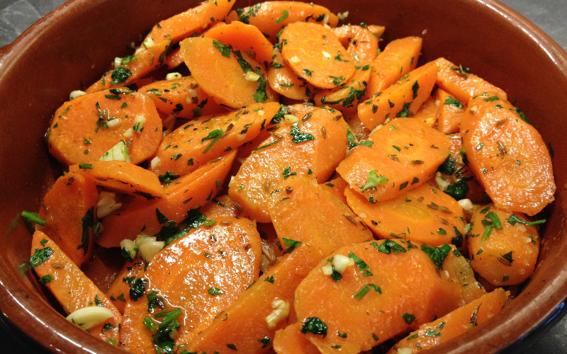 Salade de carottes et persil