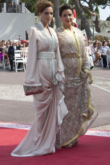 Lalla Meryem et Lalla Soukaïna au mariage du Prince Albert II de