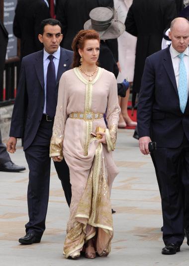 Lalla Salma au mariage du Prince William